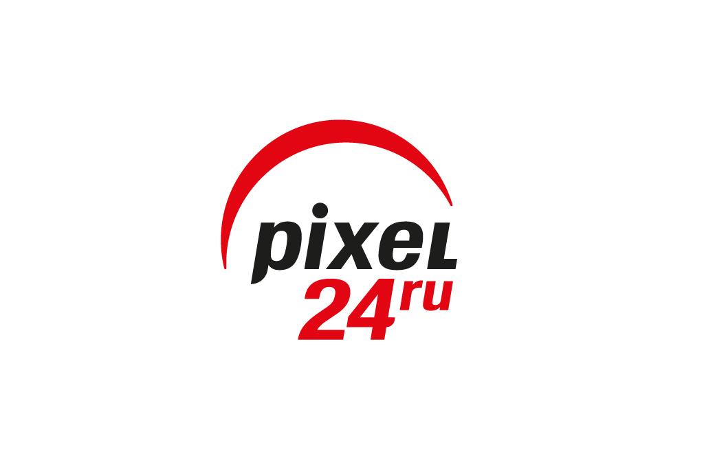 Рестайлинг логотипа и фирменного стиля магазина Pixel24. Продажа профессиональной фото и видеотехники